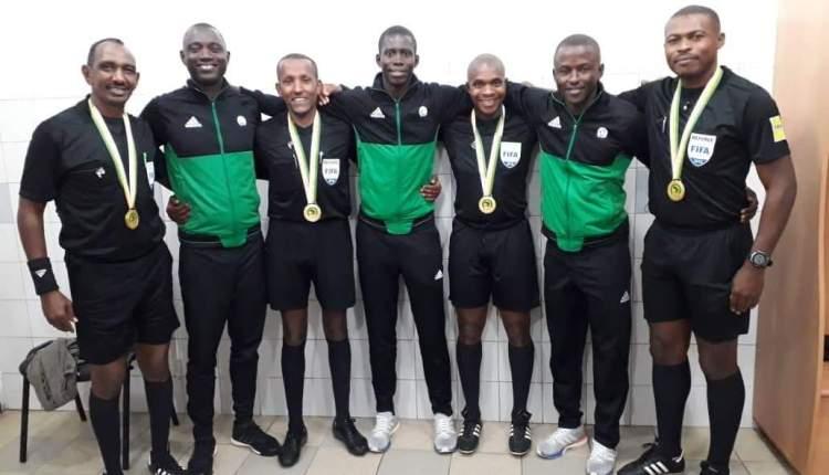 طاقم تحكيم سوداني للقاء بطل تنزانيا ورواندا