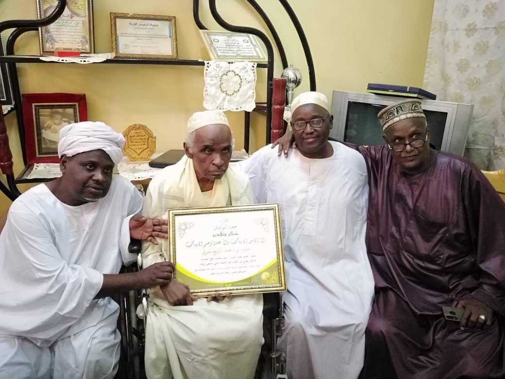 جمعية الأرابيب تكرم العمده محمد الشيخ ابو رفاس
