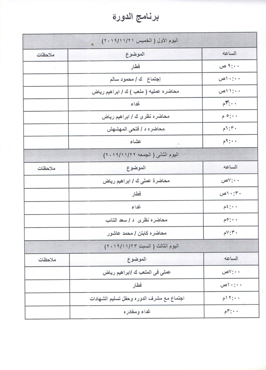 انطلاقة كورس الاتحاد العربي لمدربي الحراس بمشاركة الانصاري م..