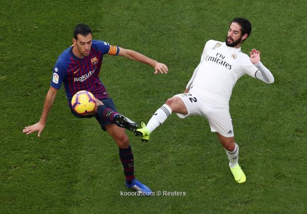 من ينتصر في كلاسيكو الارض بين برشلونة والريال؟