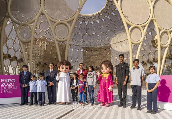 طلاب الإمارات يلتقون ميسي