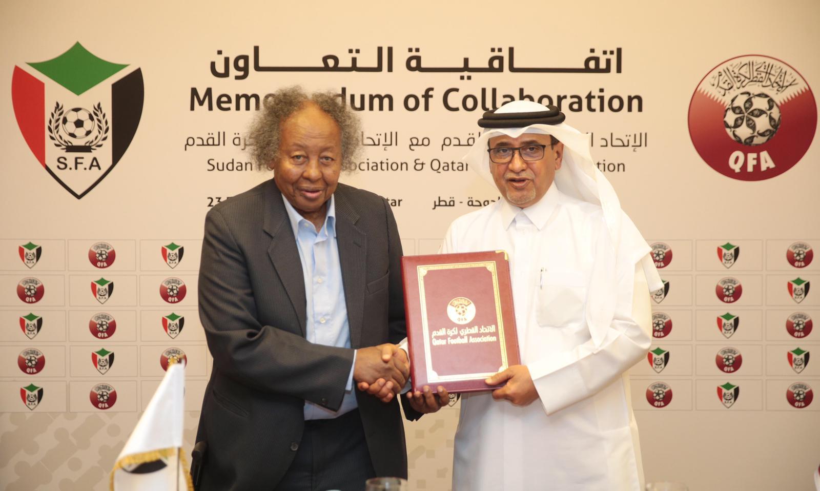 الاتحاد القطري لكرة القدم يوقع اتفاقية تعاون مع شقيقه الاتحاد السوداني لتعزيز العلاقات الثنائية