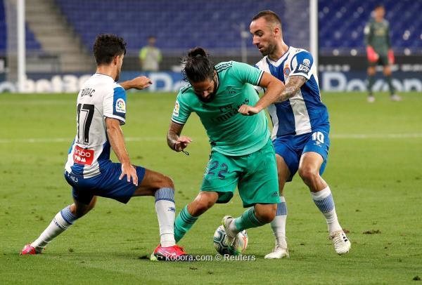 الريال يضرب اسبانيول في الدوري الاسباني