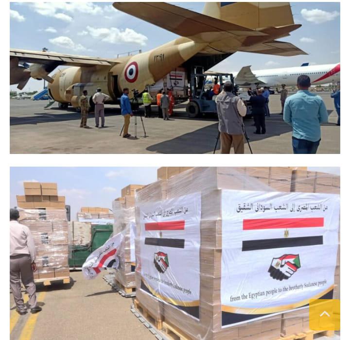 القاهرة ترسل (20) طنا من المساعدات الطبية والغذائية للخرطوم ..