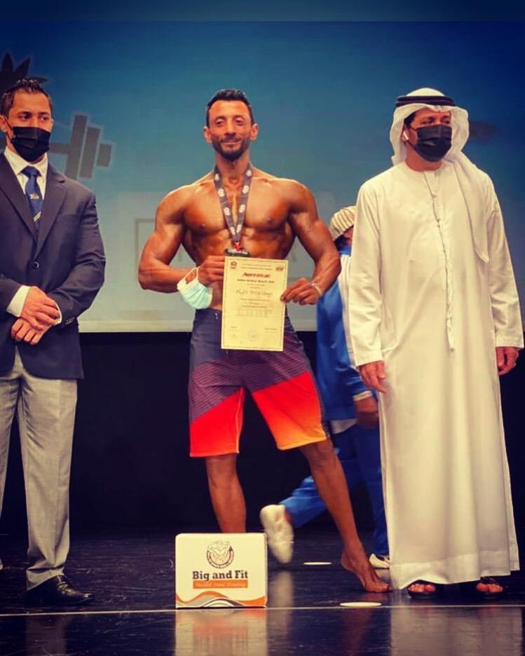 سوداني يحصد الذهب بالامارات  نادر فلب يحرز الميدالية الذهبية في بطولة Dubai Muscle 2020