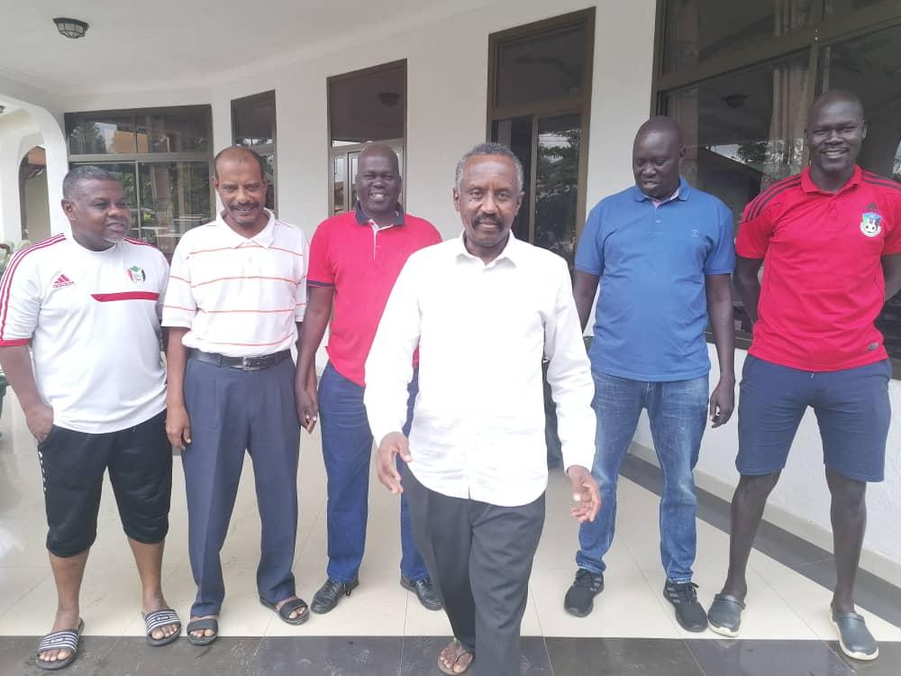 بعثة جنوب السودان تزور مقر منتخب السودان بفندق CITY LINK بأروشا التنزانية