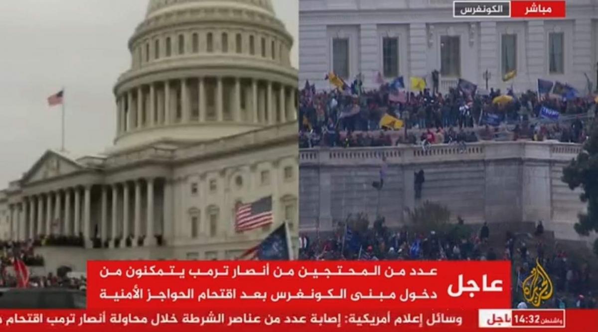 انصار ترامب يقتحمون مبني الكونجرس ويعطلون جلسة اعتماد بايدن