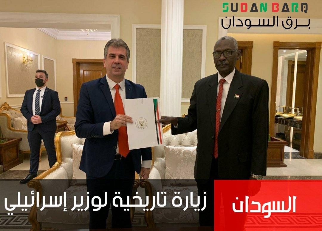 الخرطوم | زيارة تاريخية لوزير إسرائيلي إلى السودان