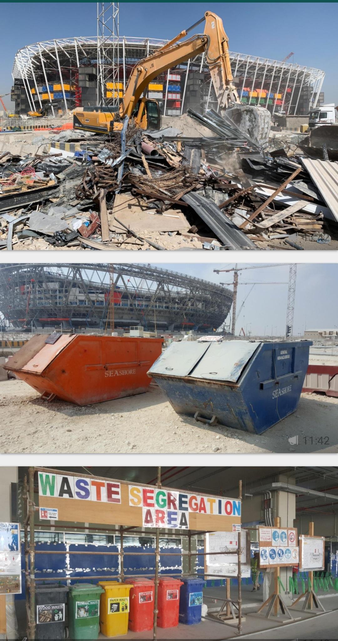 تدوير 79% من مخلفات استادات كأس العالم قطر 2022