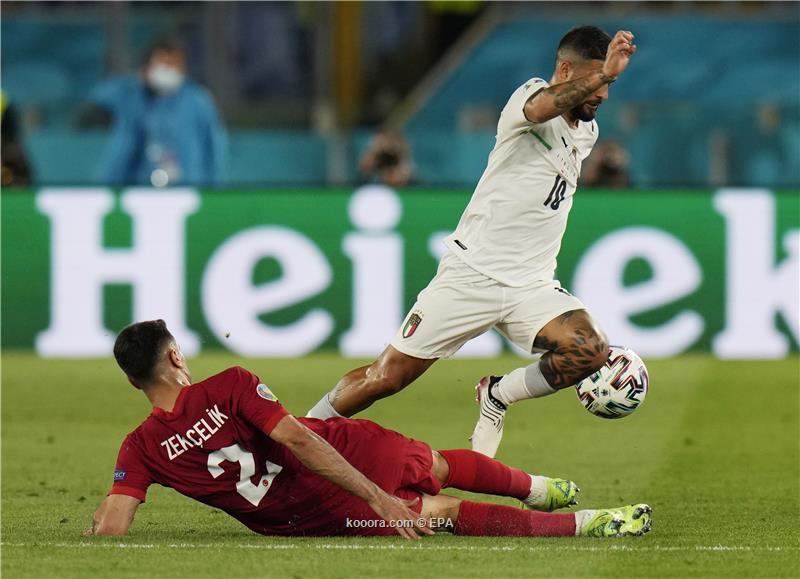 ايطاليا تكسب ثلاث نقاط مهمة وتهزم تركيا بثلاثية