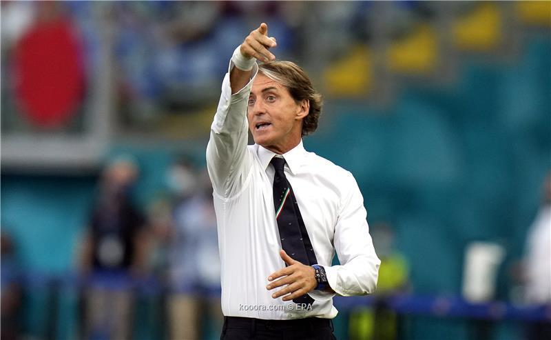 مدرب ايطاليا مانشيني: إسبانيا أسياد الاستحواذ.. وركلات الجزاء قاسية