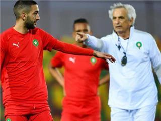 مدرب المغرب يهاجم زياش قبل لقاء السودان