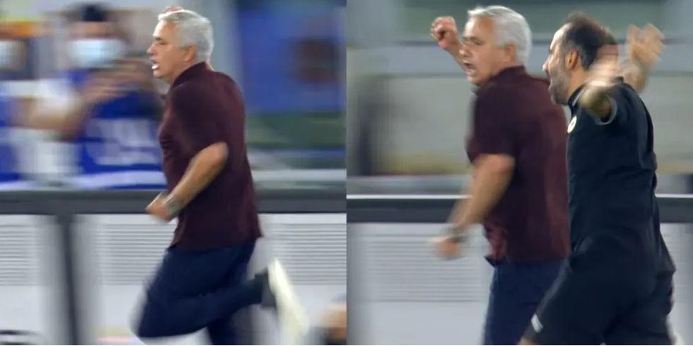 فرح جنوني لمورنيو عقب فوز روما في الزمن القاتل