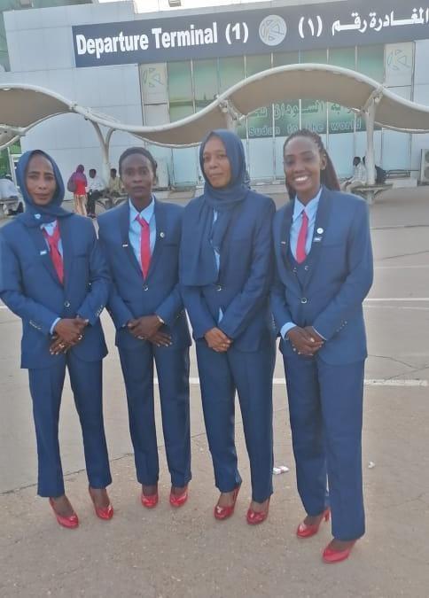 طاقم تحكيم نسائي سوداني تصفيات كأس العالم تحت ٢٠ سنة