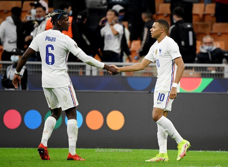 فرنسا تهزم اسبانيا وتفوز بدوري الامم