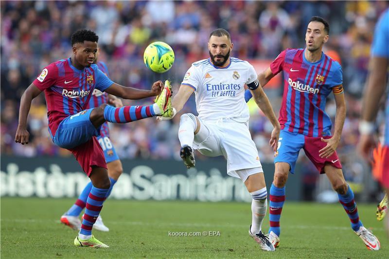 الريال يتفوق على برشلونة بهدفين لهدف