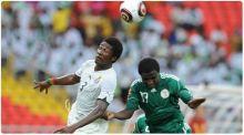 منتخب غانا  يلعب وديا ضد نيجيريا  في إنكلترا!!!