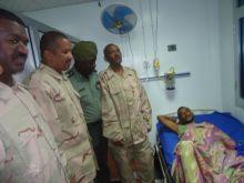 وفد هيئة الناشئين برئاسة التهامي يزور جرحى العمليات العسكرية بالسلاح الطبي!!!