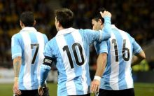 ثلاثة اهداف ارجنتينية تهز شباك المنتخب الفنزويلي