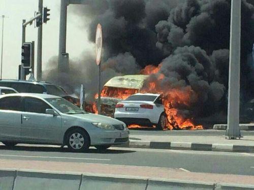 اصابة شخصان في حادث مروع بالعاصمة القطرية الدوحة