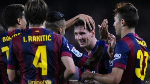 برشلونة يقهر اتلتيكو مدريد بثلاثة اهداف مقابل هدف