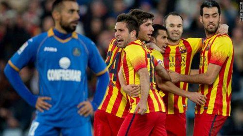 اتلتيكو يستضيف برشلونة في اياب كاس الملك