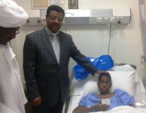التهور في القيادة يتسبب في بتر رجل الصبي المعز بخيت في الرياض