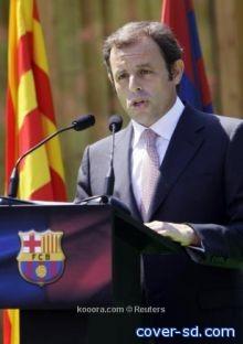 رئيس برشلونة يحضر مباراة البرازيل والارجنتين بالدوحة