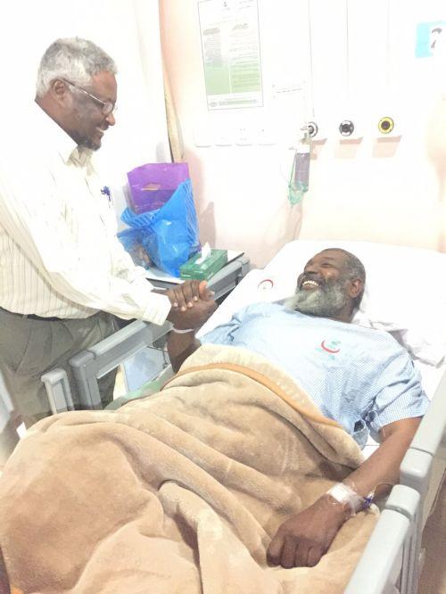 عاجل الشفاء مهندس عماد رئيس الجالية السودانية بحائل