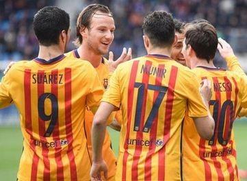 برشلونة يضرب ايبار برباعية في الدوري الاسباني