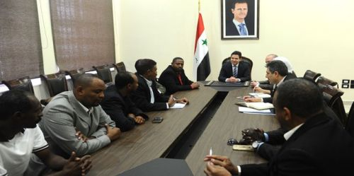 وفد رجال أعمال سوداني يزور دمشق