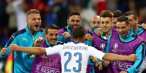يوررو 2016 ..ايطاليا تقهر بلجيكا بهدفين نظيفين