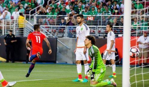 شيلي تتأهل لنصف نهائي كوبا امريكا بسباعية في شباك المكسيك