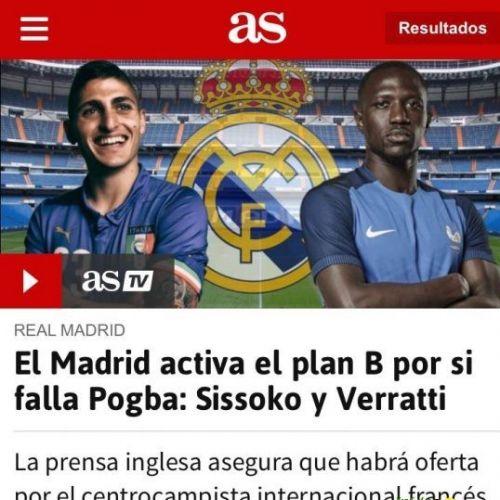 فيراتي وسيسوكو على رادار ريال مدريد في الميركاتو !