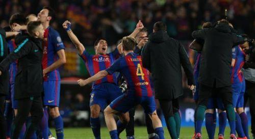 فرح هستيري في برشلونة بعد المعجزة و التأهل على حساب باريس