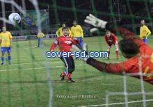 الرئيس الشيشاني يسجل هدفين في مباراة ودية امام نجوم البرازيل!!!