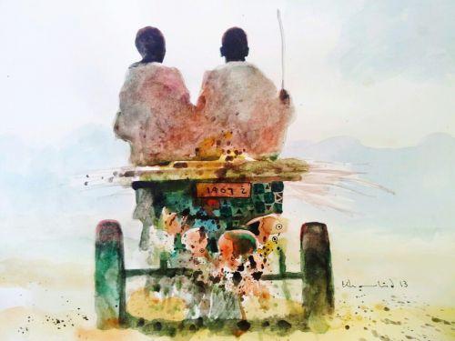 """فنان سوداني :""""بيني وبين الحمير قواسم مشتركة"""""""