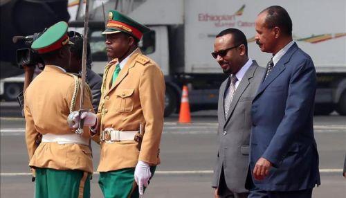 رئيس وزراء اثيوبيا يصل ميناء عصب الاريتري