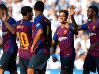 الليجا..برشلونة يعبر سوسيداد ويواصل انطلاقته المثالية