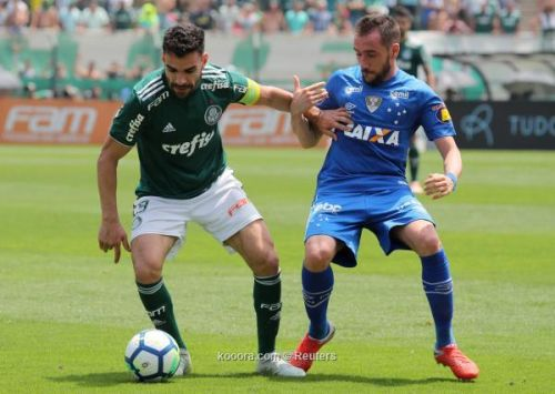 بالميراس يكسب كروزيرو ويرتقي لصدارة الدوري البرازيلي