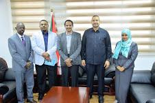 وزير الدولة بوزارة الخارجية يطلع علي سير عمل العلاقات الخارجية بالاتحاد الوطني للشباب السوداني