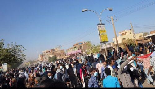 تظاهرات كبيرة في مناطق وأحياء خرطومية