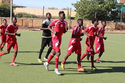 الاولمبي يتدرب بالاكاديمية استعدادا لكينيا