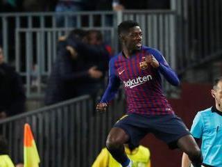 مدرب برشلونة يصف اصابة ديمبلي بالنكسة