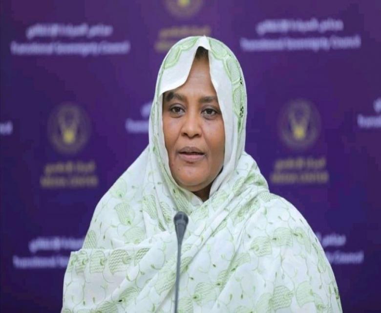 المنصورة تتعهد بتعزيز علاقات السودان الدولية