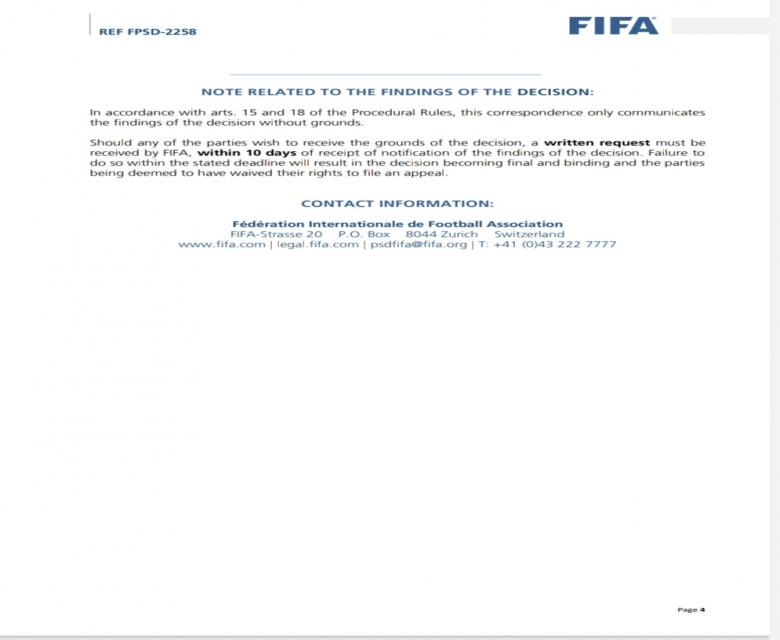 بالصورة.. كفرووتر تنشر النسخة الثالثة من خطاب الفيفا بخصوص اللاعب الليبي بالمريخ